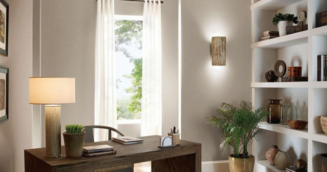 Relaxing Home Office Behr Shadow Taupe Bnc