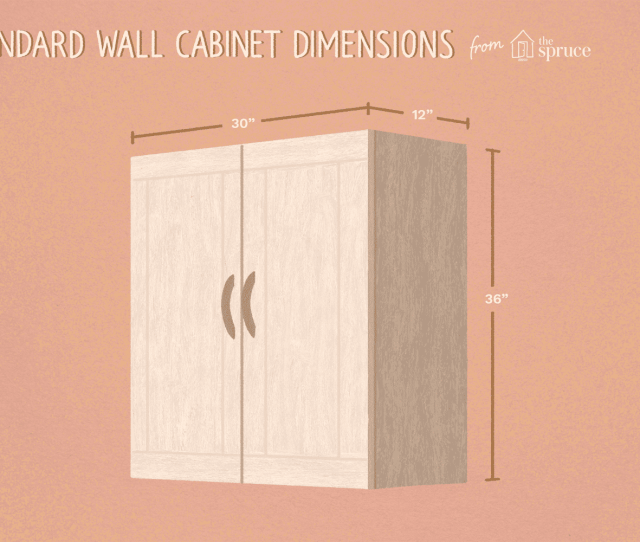 Illustration Of Wall Cabinet Dimensions