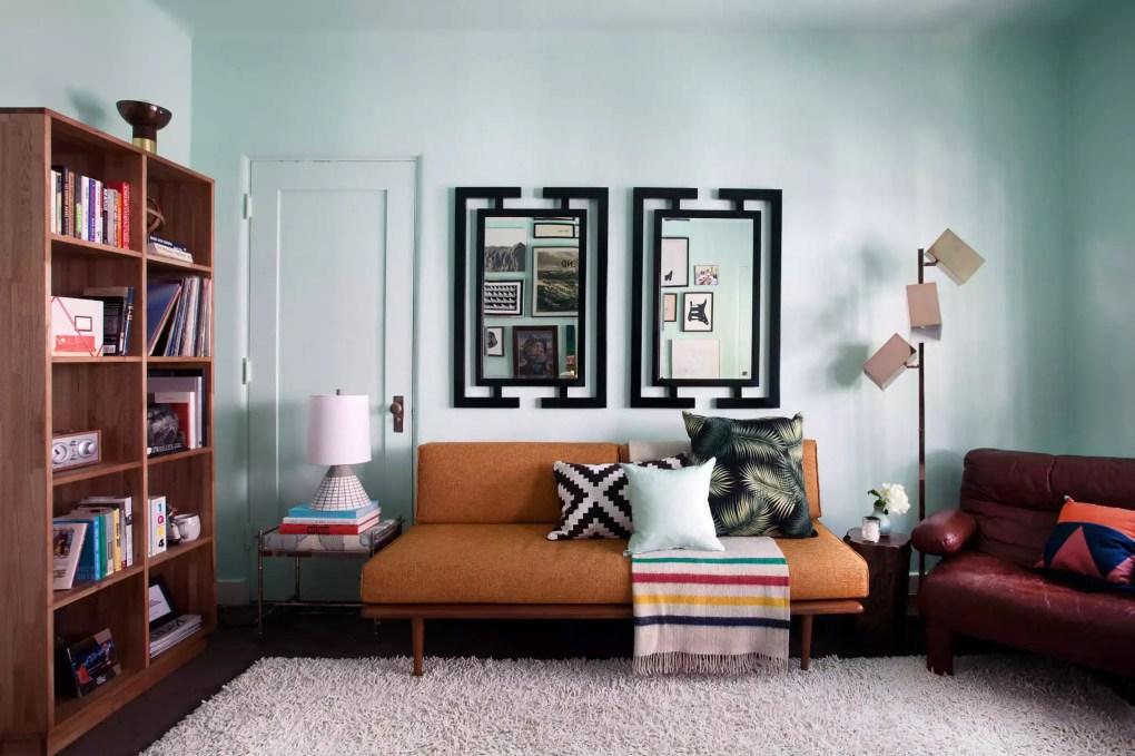 midcentury inspired LA living room