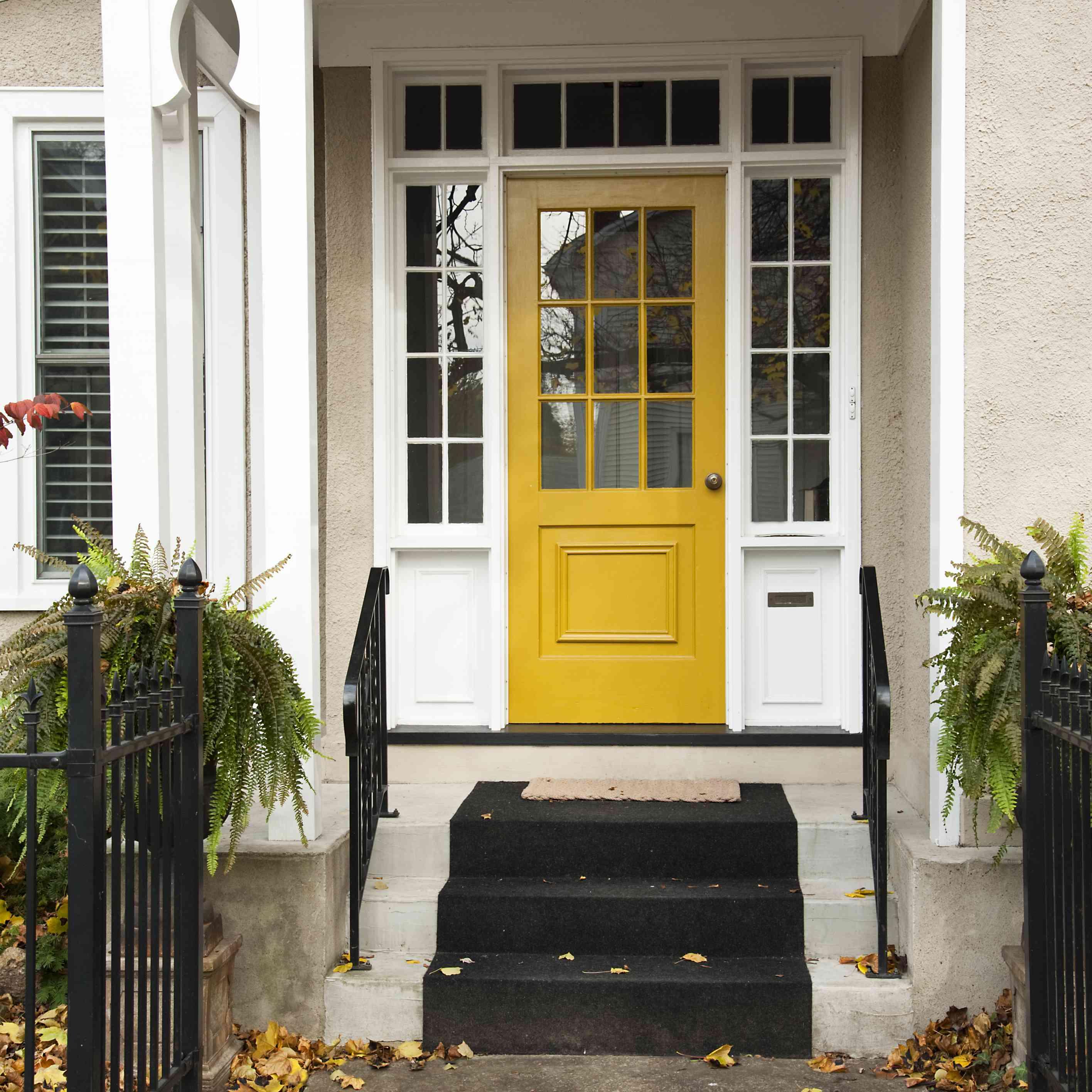 7 Eye Catching Yellow Front Doors