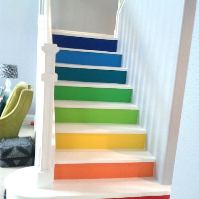 22 Gorgeous Painted Stair Ideas   Wall Painting Designs For Staircase   Simple   Decorative   Two Tone   Modern   Hall Nature