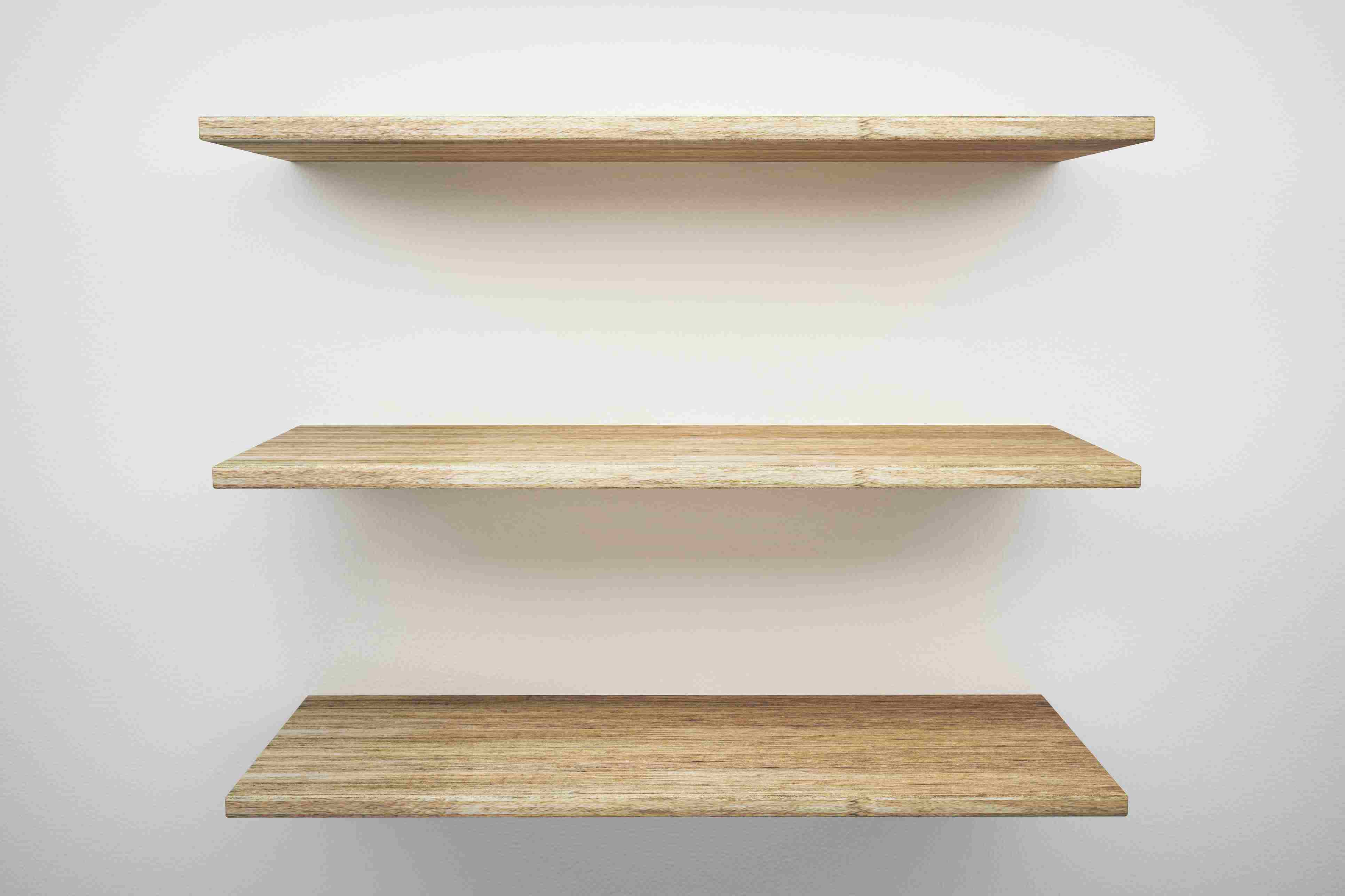 Properly Space Your Shelves And Wall Supports