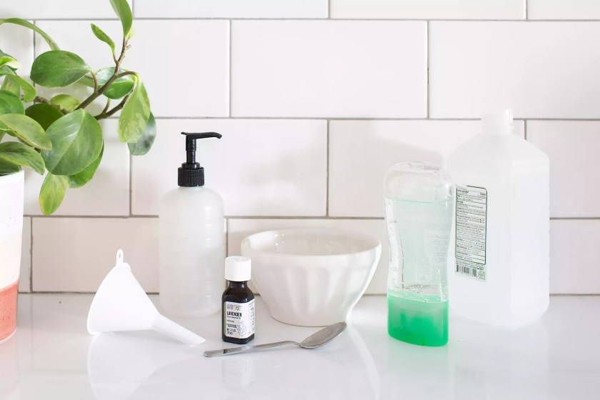 materials used for diy sanitizer