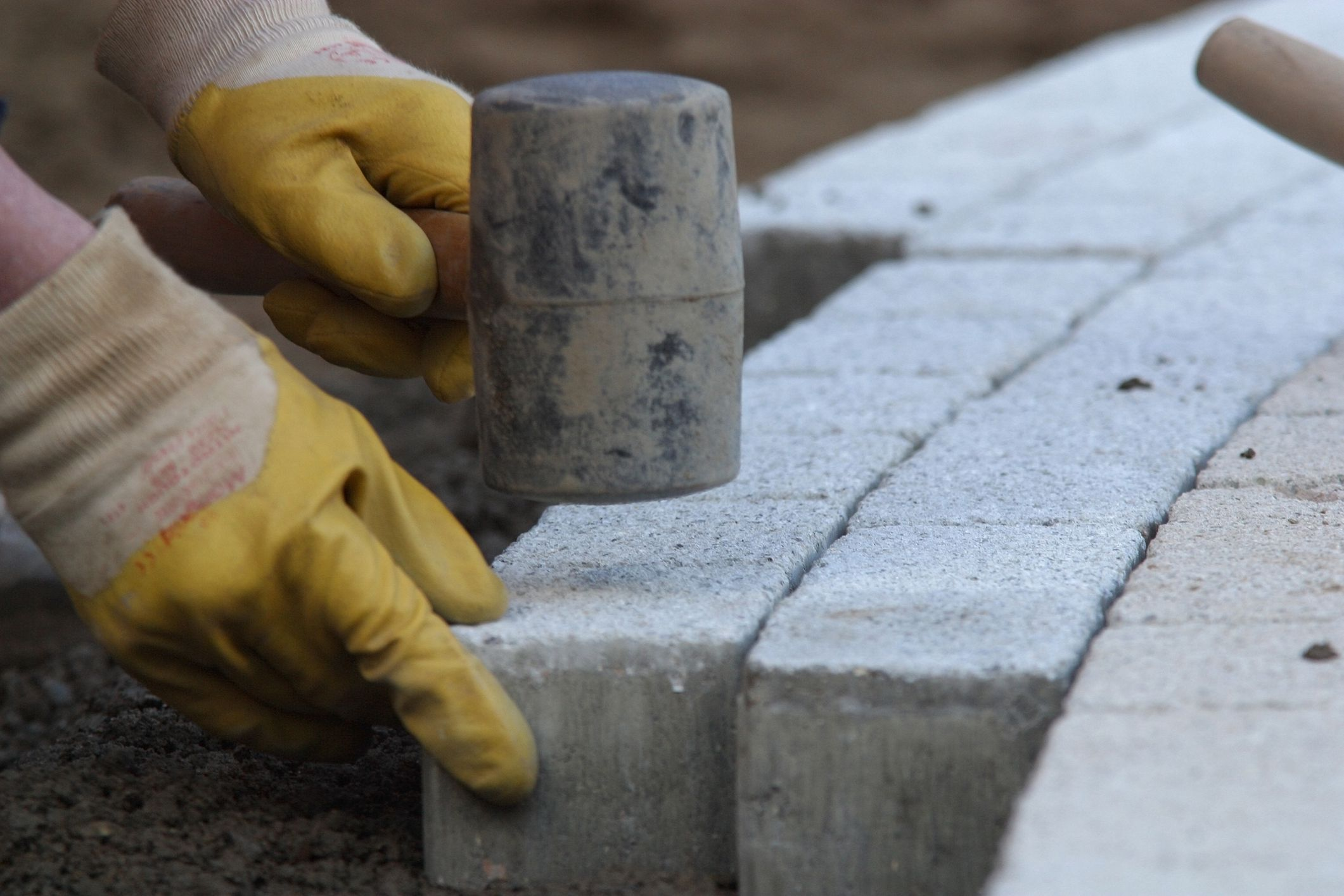 use polymeric sand when installing pavers