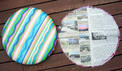how to reupholster patio chair pads and