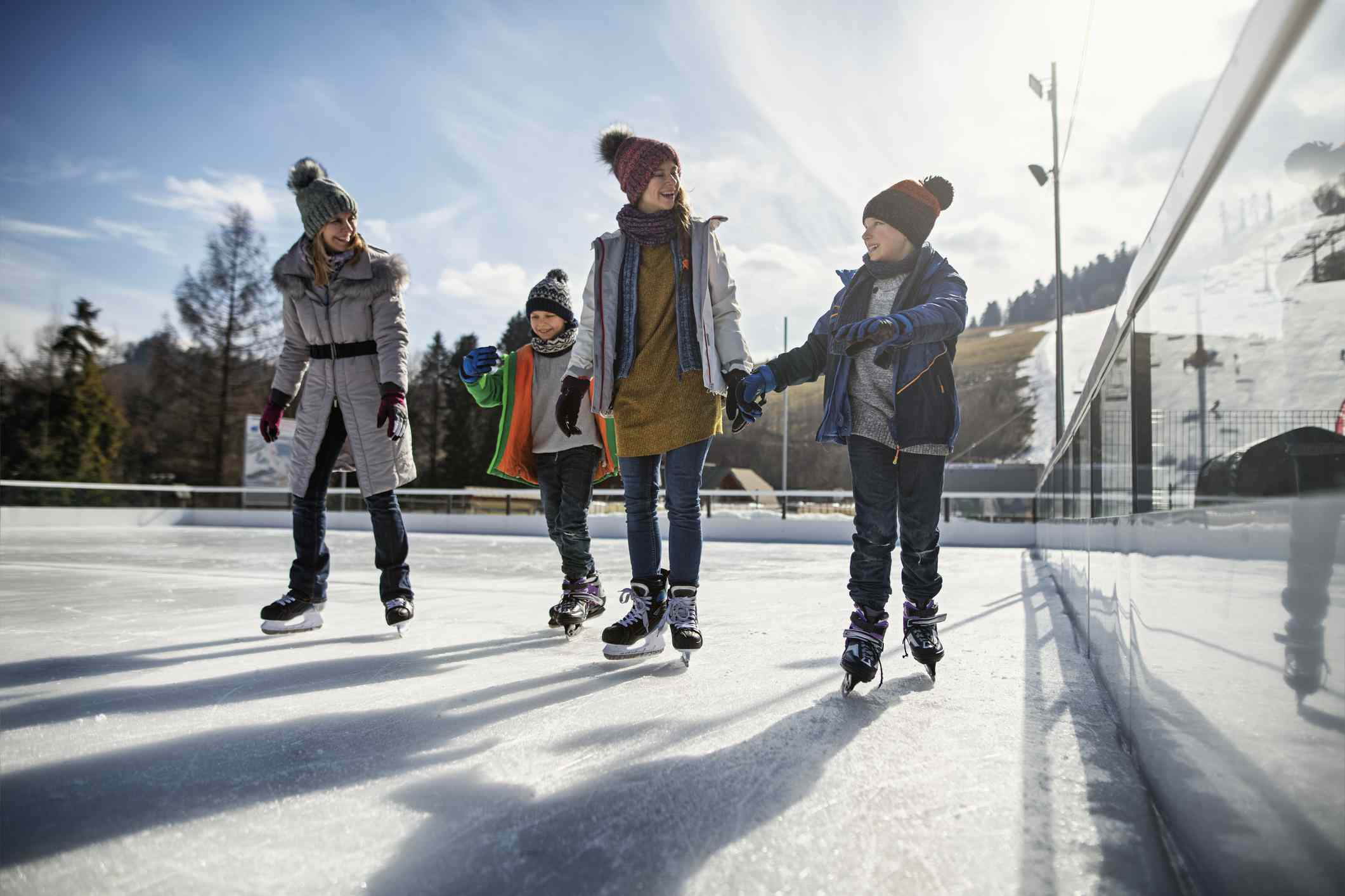 how to throw an ice skating birthday party