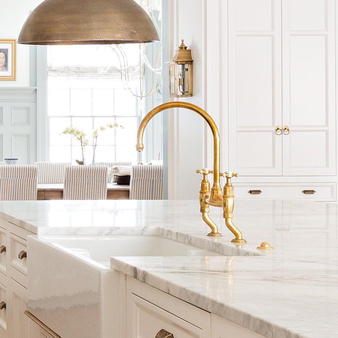 accent your kitchen with brass details