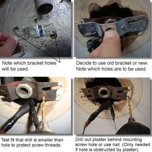 How to Replace a Ceiling Light Fixture ceiling light fixture mounting bracket