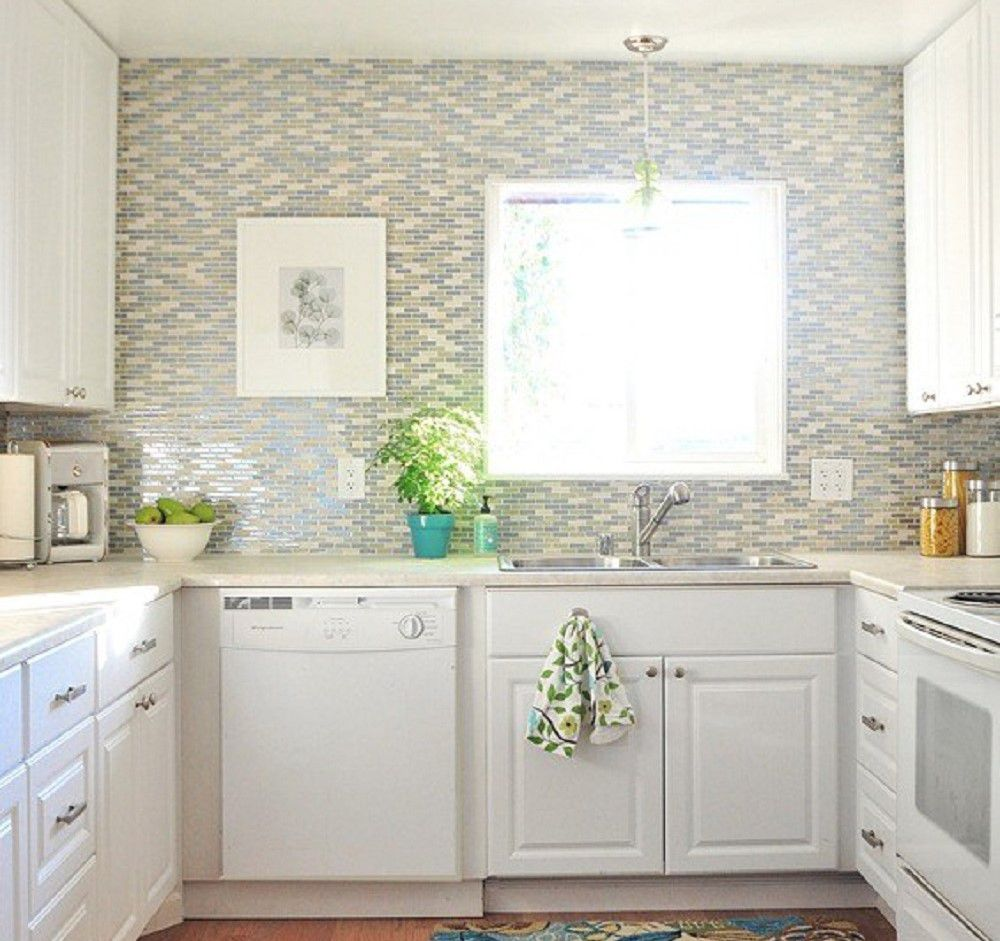 L Shaped Kitchen White Shaker Cabinets