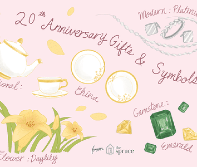 Illustration Depicting Traditional Th Anniversary Gifts