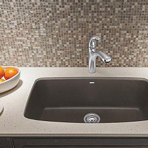 silgranit sink in the kitchen