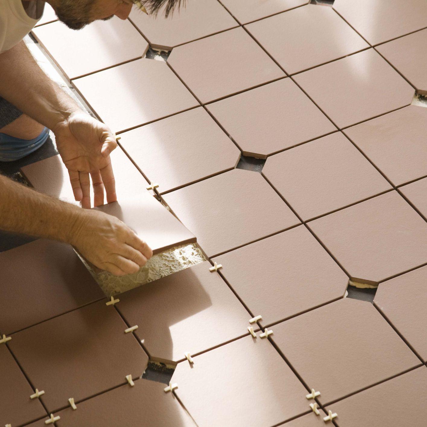 floating tile flooring ready for