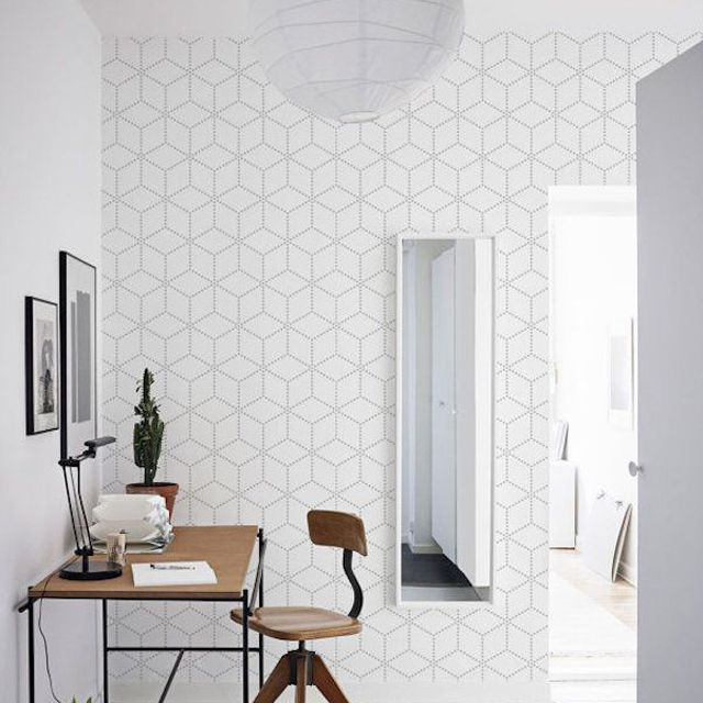 10 Beautiful Rooms With Geometric Wallpaper