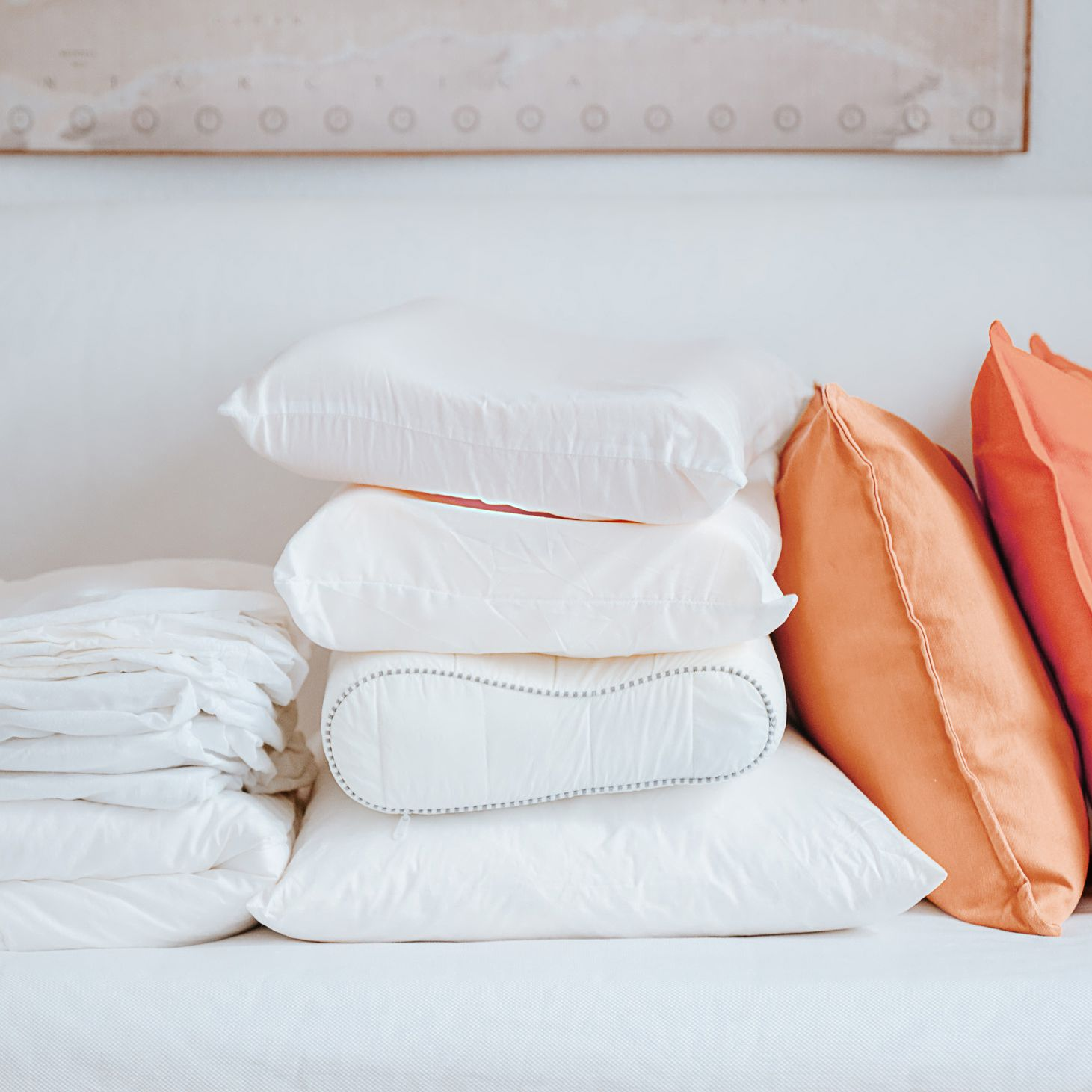 to wash latex and memory foam bed pillows