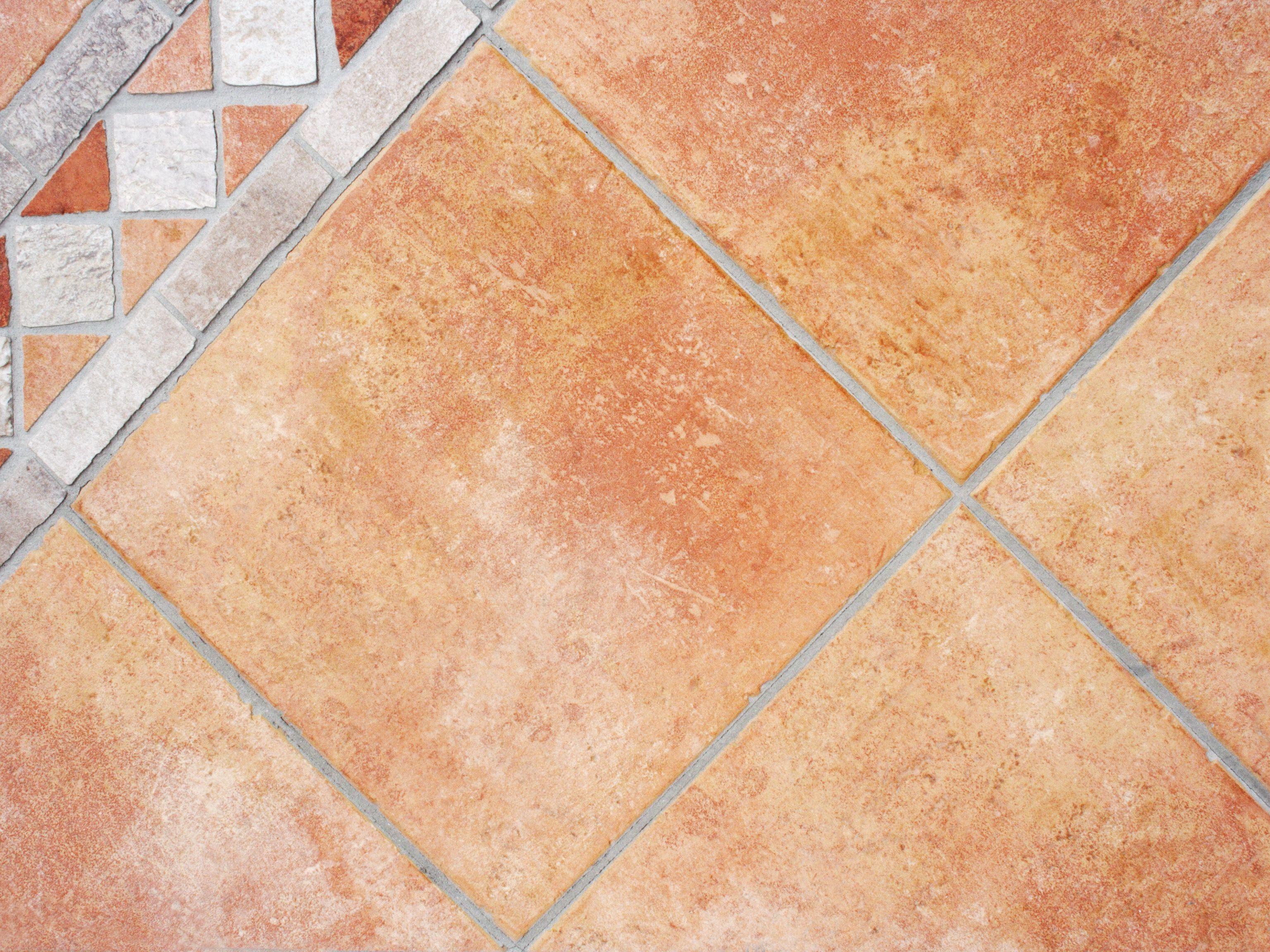 faux terra cotta floor on concrete