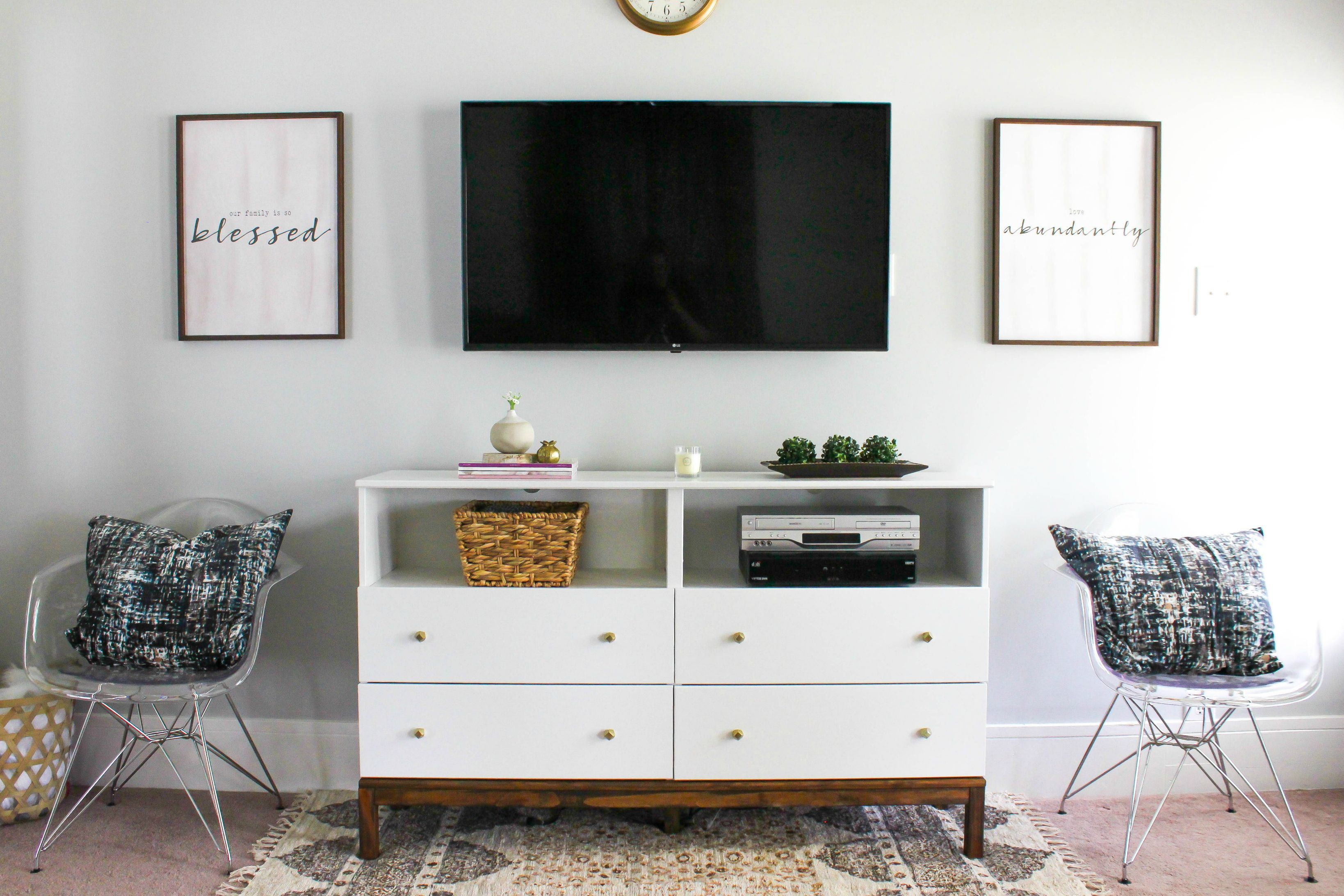 6 DIY TV Stands That Hide Ugly Cable Boxes And Wires