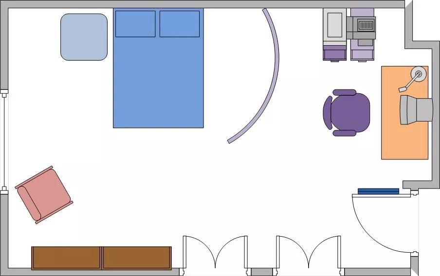 Văn phòng mẫu trong phòng ngủ