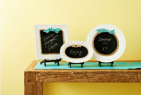 Creative Ways to Upcycle Vintage Plates as Decor Chalkboard Plates