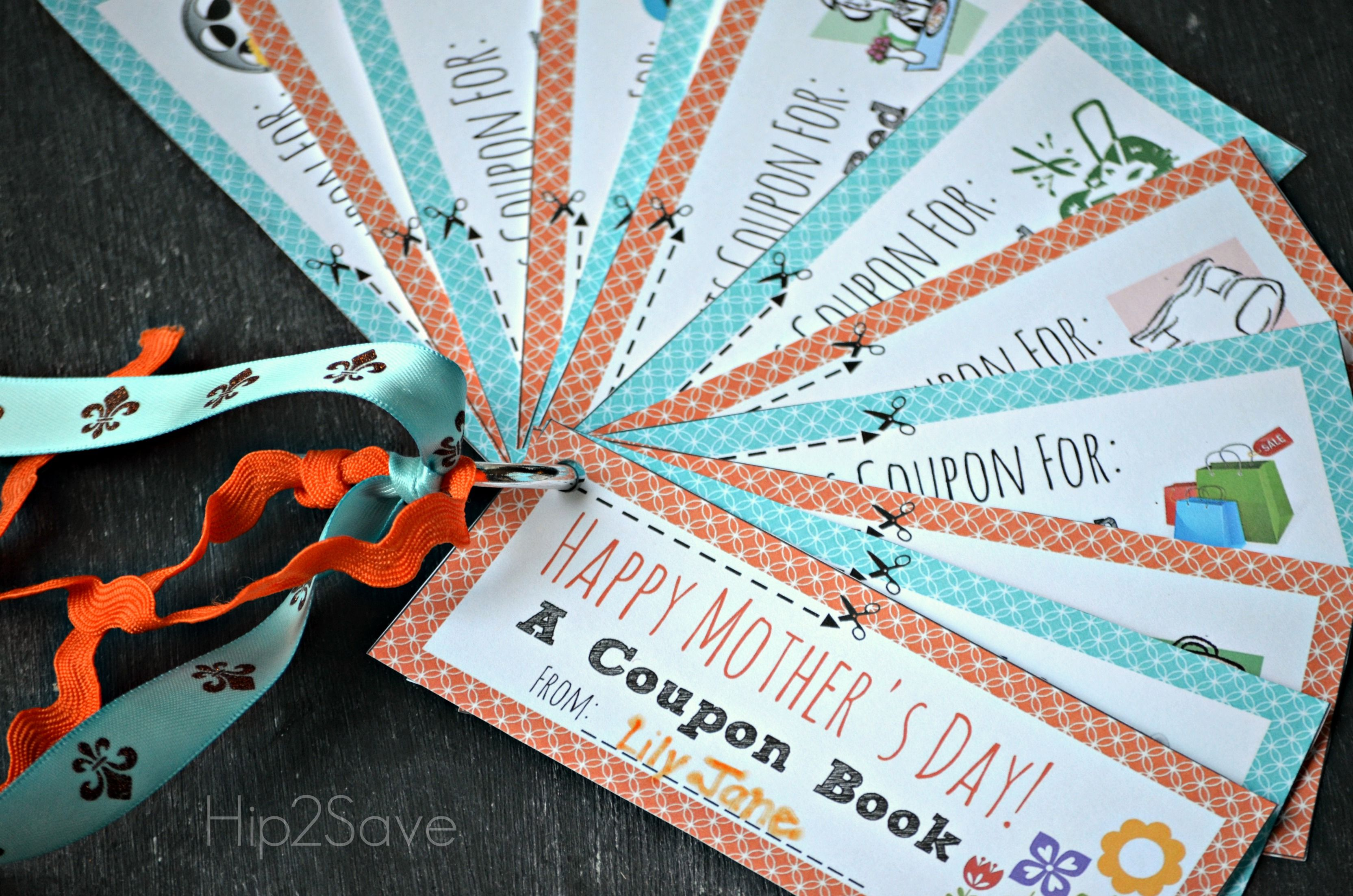 13 Sets Of Free Printable Mothers Day Coupons