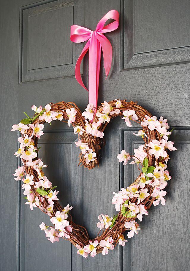 DIY Cherry Blossom Wreath