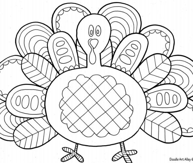 A Thanksgiving Turkey Coloring Sheet