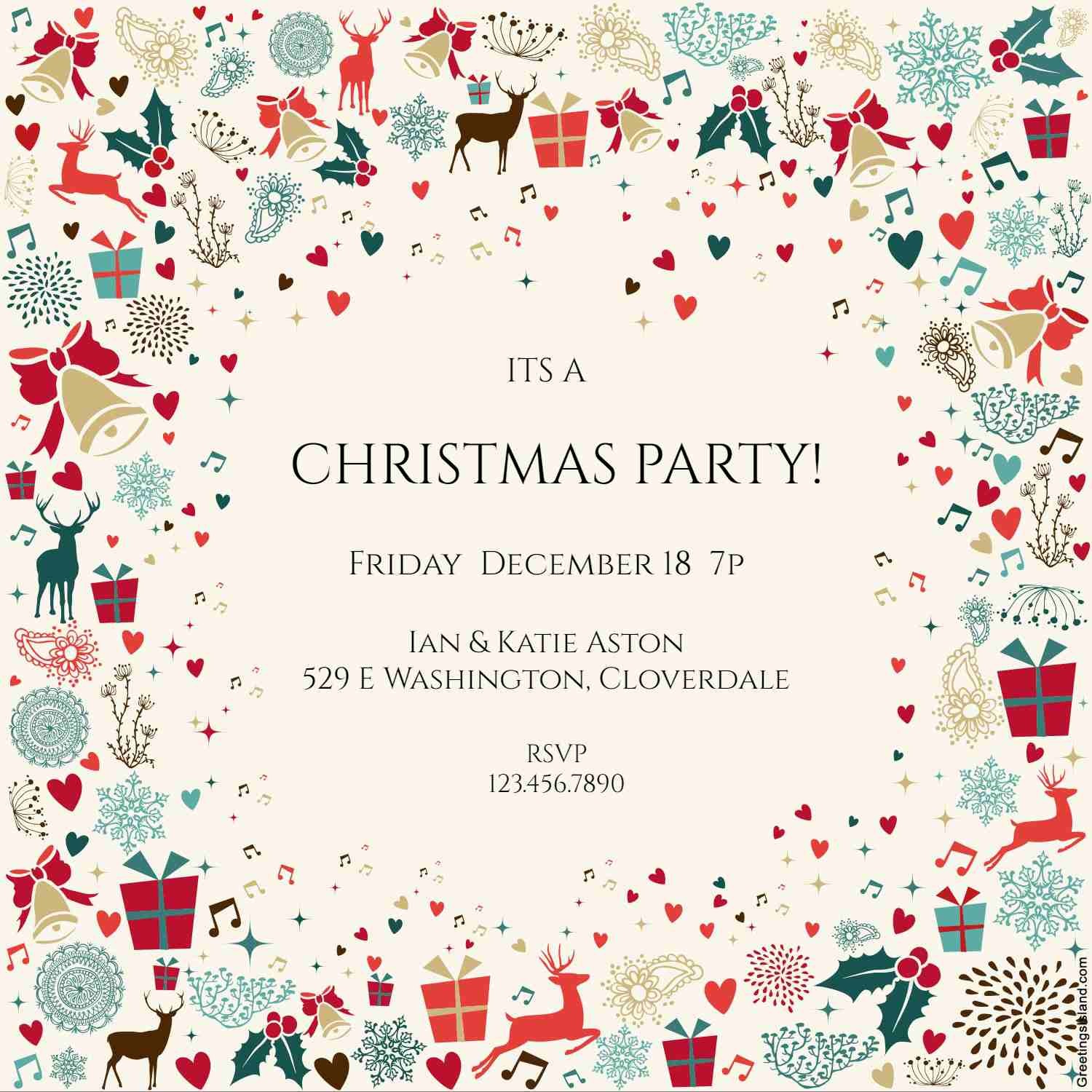 12 Free Christmas Party Invitations That You Can Print