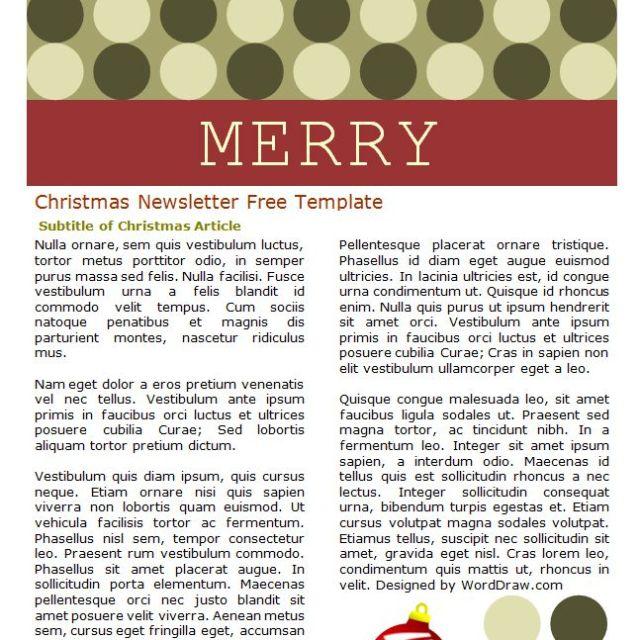 7 Free Christmas Letter Templates And