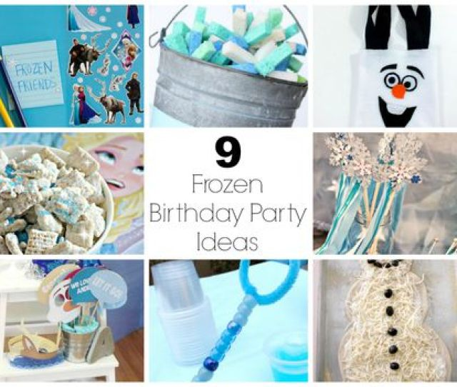We Love The Movie Frozen Over At Our House We Just Cant Get Enough Of It Throw Your Kids The Best Birthday Party With These Birthday Party Ideas