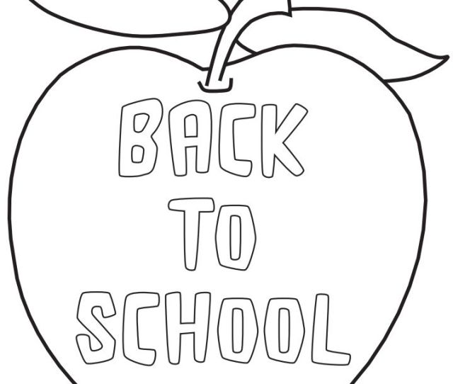 Sources For Free Back To School Coloring Pages