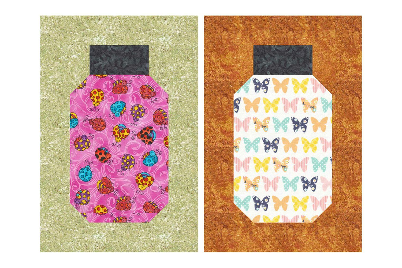 Beginner Friendly Bug Jar Quilt Block Pattern