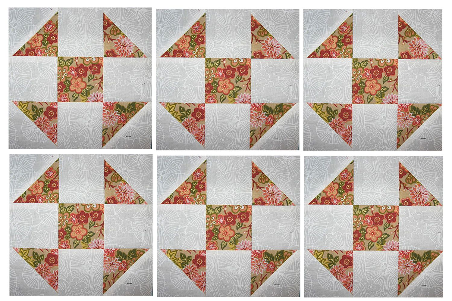 6 Inch Shoo Fly Quilt Block Pattern For Beginners