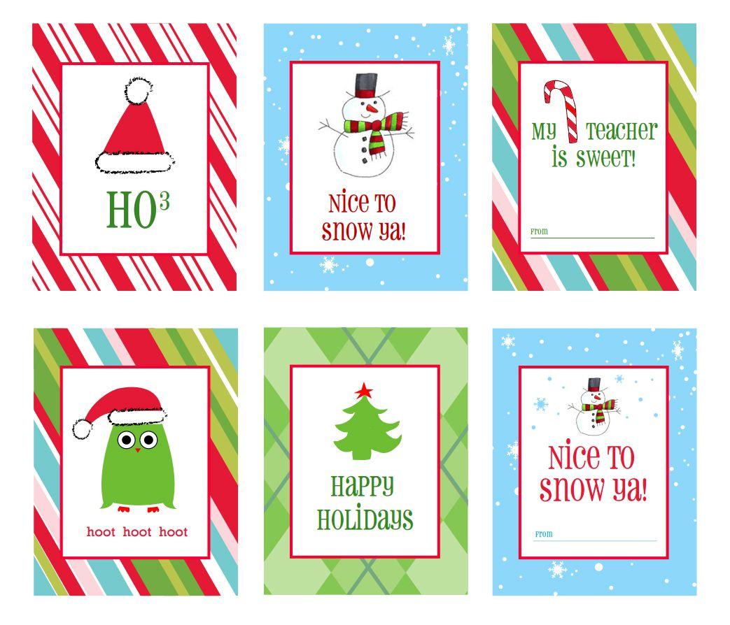 40 Sets Of Free Printable Christmas T Tags