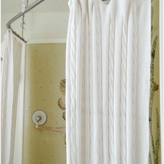 12 diy shower curtains for your bathroom
