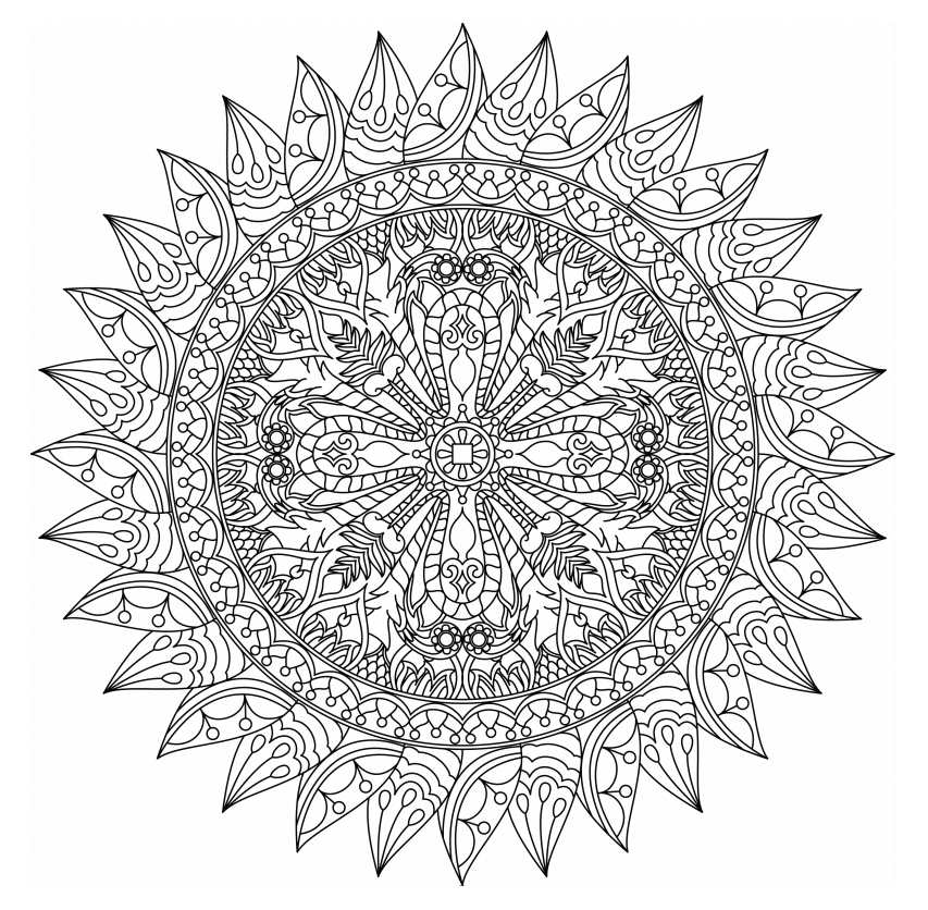 Free, Printable Mandala Coloring Pages for Adults | coloring pages mandalas printable