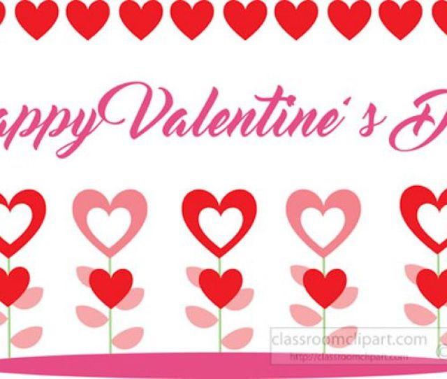 Classroom Cliparts Free Valentine Day Clip Art Flowers And Hearts For Valentines Day