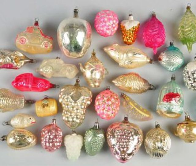 Group Of Vintage Glass Christmas Ornaments Morphy Auctions