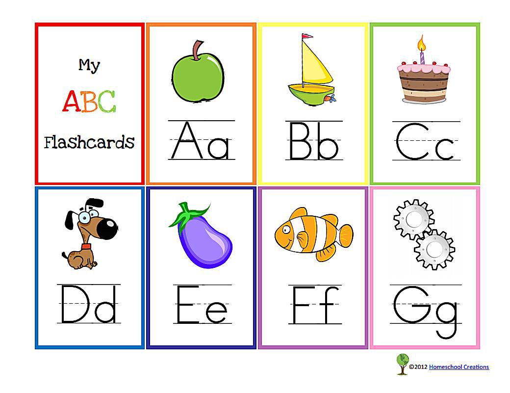 10 Sets Of Free Printable Alphabet Flashcards