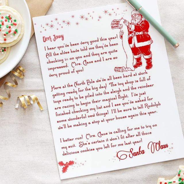 22 Free Letter From Santa Templates