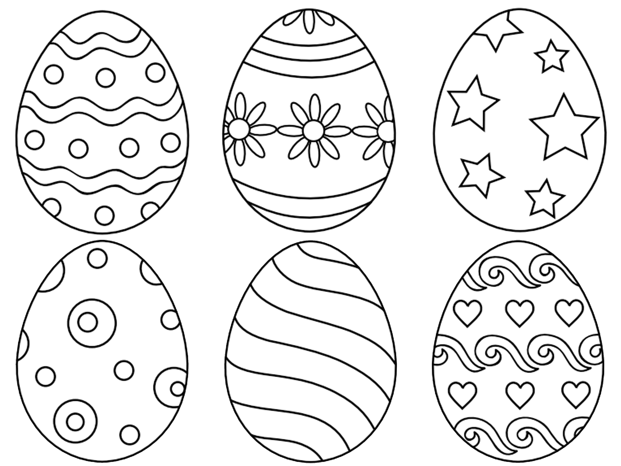 7 Places For Free Printable Easter Egg Coloring Pages
