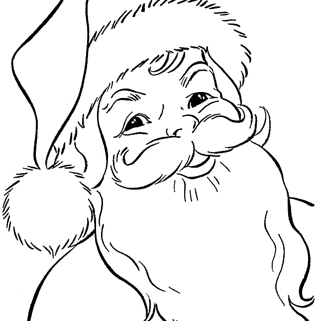 Free Santa Coloring Pages And Printables For Kids