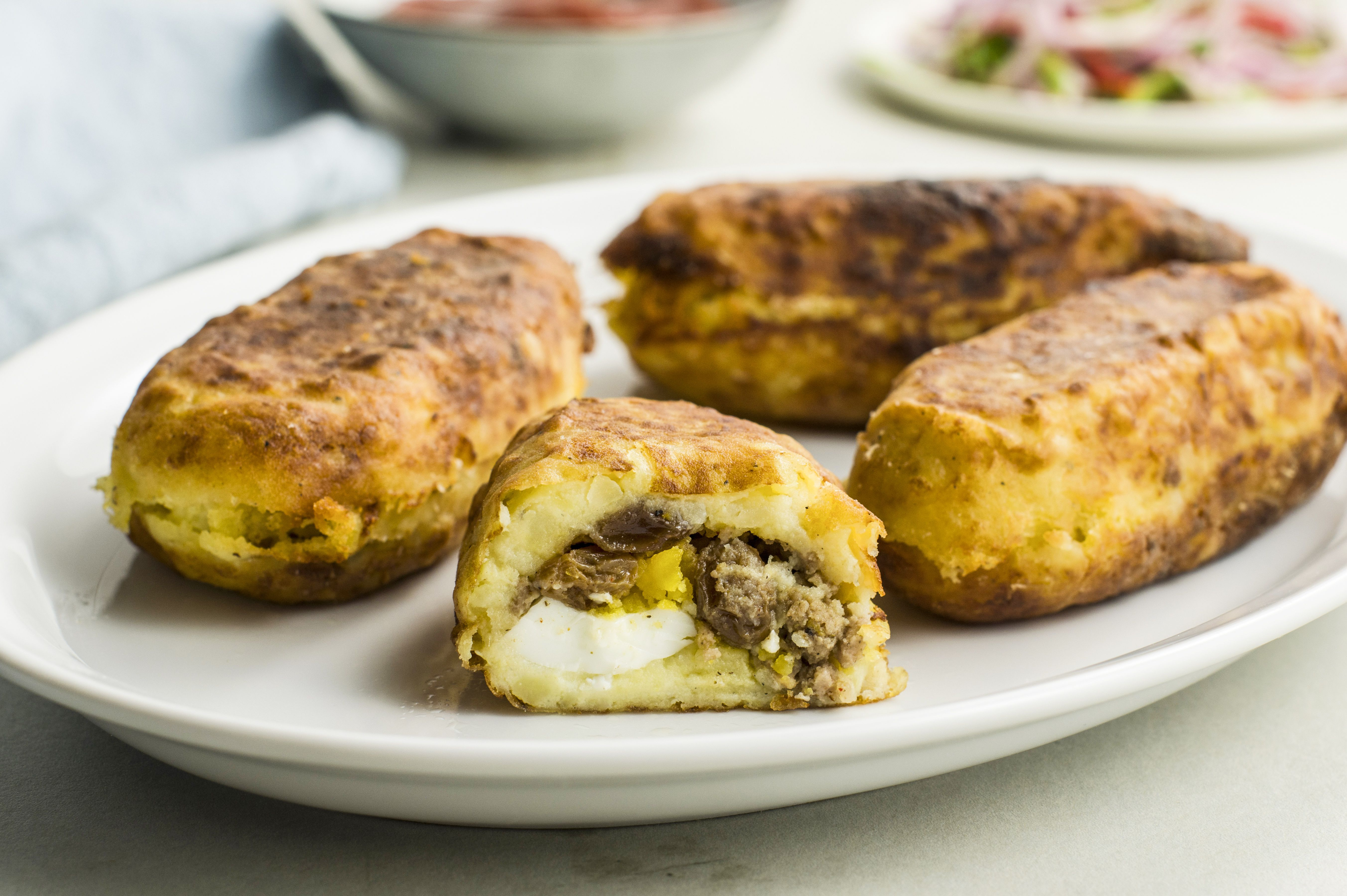 Peruvian Stuffed Potatoes Recipe