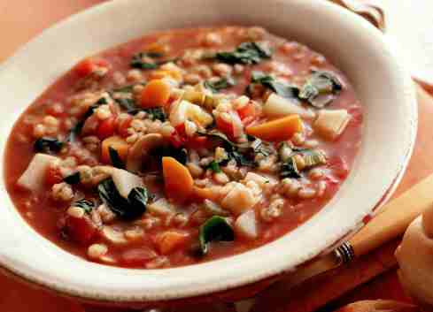 Image result for Vegan tomato and Barley Vegetable Soup
