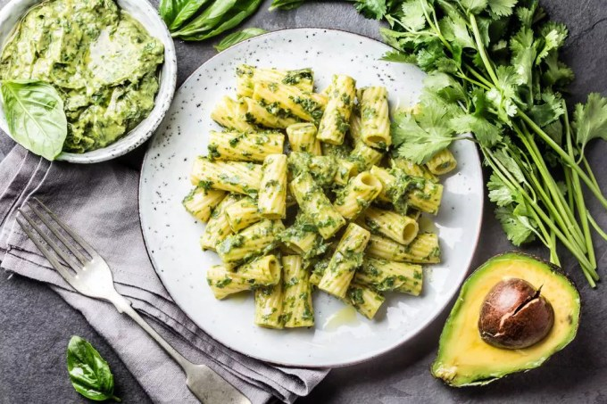 Avocado and Pesto Pasta Recipe