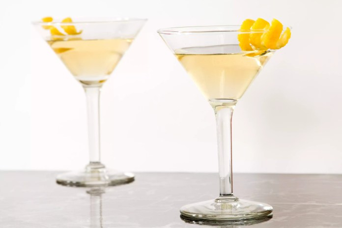 Tequila Martini (Tequini) With a Lemon Twist