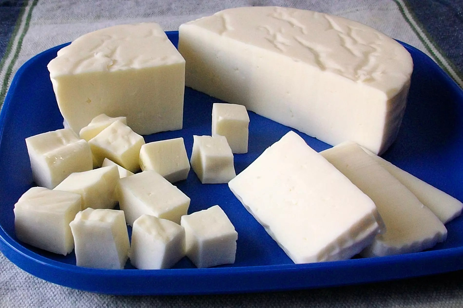 A plate of queso panela