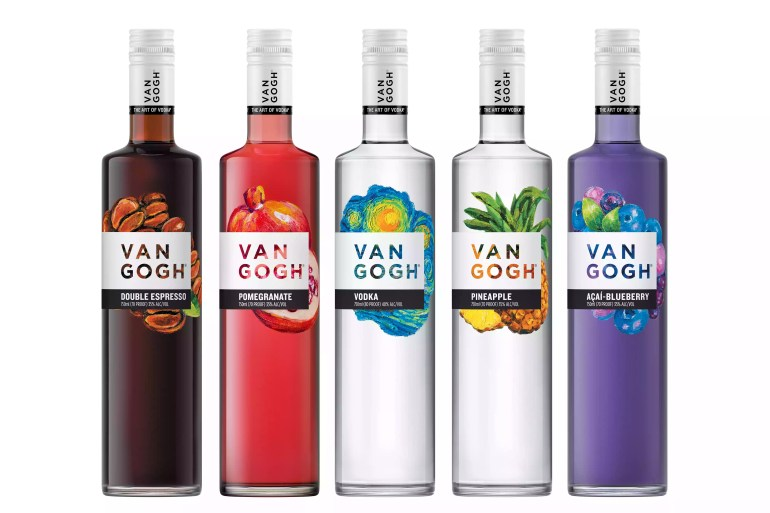 Selection of Flavors From Van Gogh Vodka