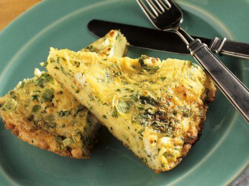 Cheesy Pasta Frittata Recipe