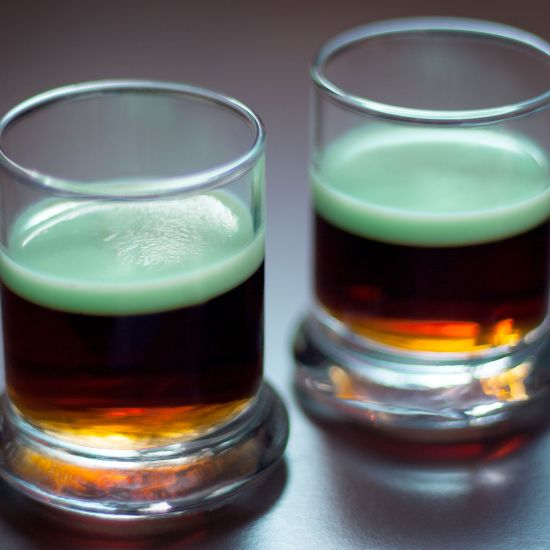 Image result for Guinness and Green Jello Shots