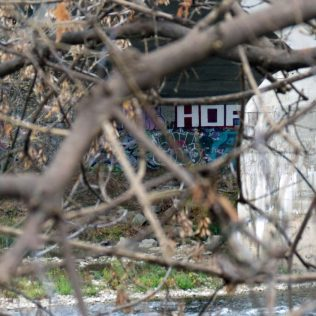 """""""A squirrels view of some of the street art that can be found on the Grand River Trail."""""""
