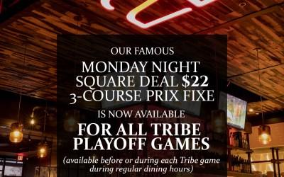 $22 Playoff Prix-Fixe Menu GO TRIBE!